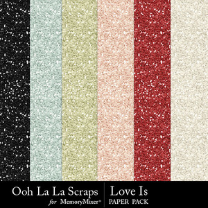 Love is glitter papers medium