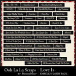 Love Is OLL Word Labels Pack-$1.99 (Ooh La La Scraps)