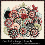 Love Is OLL Layered Flowers Pack-$1.99 (Ooh La La Scraps)