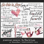 So This is Love JSD Wordbits Pack-$3.99 (Jumpstart Designs)