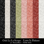 Love Is Patient Glitter Paper Pack-$1.99 (Ooh La La Scraps)