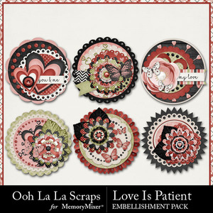Love is patient cluster seals medium