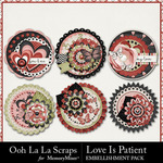 Love Is Patient Cluster Seals Pack-$1.99 (Ooh La La Scraps)