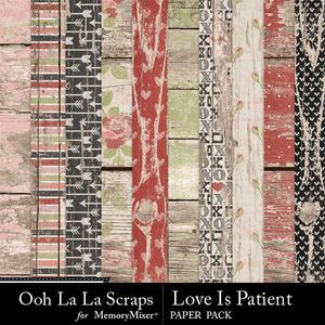 Love is patient wood papers medium