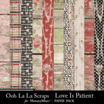 Love Is Patient Wood Paper Pack-$1.40 (Ooh La La Scraps)