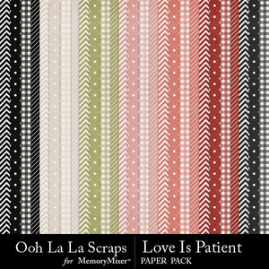 Love is patient pattern papers medium