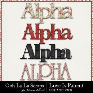 Love is patient alphabets medium