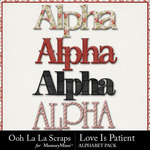 Love Is Patient Alphabet Pack-$2.99 (Ooh La La Scraps)