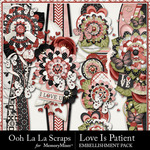 Love Is Patient Page Borders Pack-$1.40 (Ooh La La Scraps)