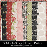 Love Is Patient Worn Paper Pack-$1.99 (Ooh La La Scraps)