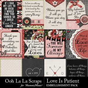 Love is patient pocket cards medium