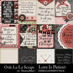 Love Is Patient Journal Cards Pack-$1.99 (Ooh La La Scraps)