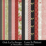 Love is patient kit papers small
