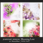 Blooming Love Art Paper Pack-$3.99 (Jumpstart Designs)