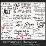 Blooming Love WordArt Pack-$3.99 (Jumpstart Designs)