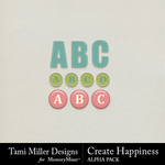 Create Happiness Alphabet Pack-$2.99 (Tami Miller)