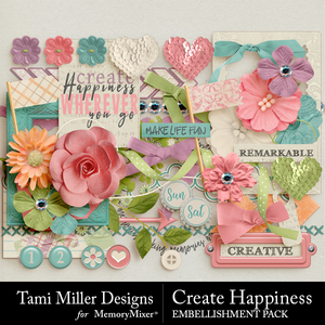 Create happiness embellishments medium