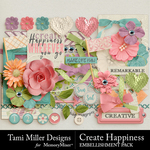 Create Happiness Embellishment Pack-$3.99 (Tami Miller)