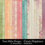 Create happiness paper pack small