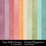 Create happiness solid papers small