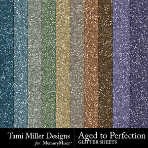 Aged to perfection glitter sheets medium