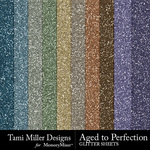 Aged to perfection glitter sheets small