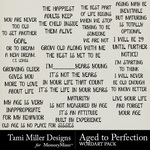 Aged to Perfection Wordart Pack-$2.99 (Tami Miller)