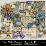 Aged to perfection embellishments pack small