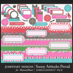 Sunny Attitudes Prevail Wordy Bits Pack-$3.99 (Jumpstart Designs)