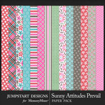 Sunny Attitudes Prevail Patterned Paper Pack-$3.99 (Jumpstart Designs)