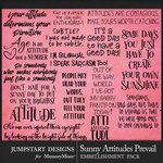 Sunny Attitudes Prevail WordArt Pack-$3.99 (Jumpstart Designs)