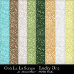 Lucky one glitter papers small