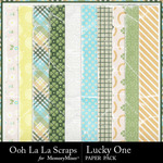 Lucky One Worn Paper Pack-$1.99 (Ooh La La Scraps)
