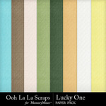 Lucky One Embossed Paper Pack-$1.99 (Ooh La La Scraps)