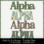 Lucky one alphabets small