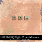 Create Moments Alphabet Pack-$1.99 (Laura Burger)
