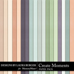 Create Moments Solid Paper Pack-$3.99 (Laura Burger)