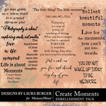 Create Moments WordArt Pack-$4.99 (Laura Burger)