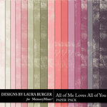 All of Me Loves All of You Solid Papers-$3.99 (Laura Burger)