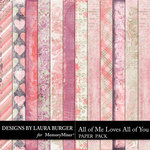 All of Me Loves All of You Grunge Papers-$3.99 (Laura Burger)