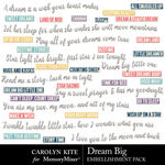 Dream Big CK Wordart Pack-$2.99 (Carolyn Kite)