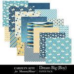 Dream Big CK Boy Paper Pack-$3.99 (Carolyn Kite)