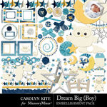 Dream Big CK Boy Embellishment Pack-$4.99 (Carolyn Kite)