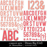 Dream Big CK Girl Alphabet Pack-$2.99 (Carolyn Kite)