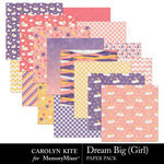 Dream Big CK Girl Paper Pack-$3.99 (Carolyn Kite)