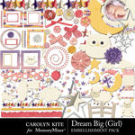 Dream Big CK Girl Embellishment Pack-$4.99 (Carolyn Kite)
