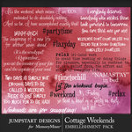 Cottage Weekends WordArt Pack-$3.99 (Jumpstart Designs)