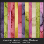 Cottage Weekends Water Color Paper Pack-$3.99 (Jumpstart Designs)