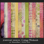 Cottage Weekends Blended Paper Pack-$3.99 (Jumpstart Designs)