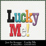Lucky Me JSS Alphabet Pack-$2.99 (Just So Scrappy)